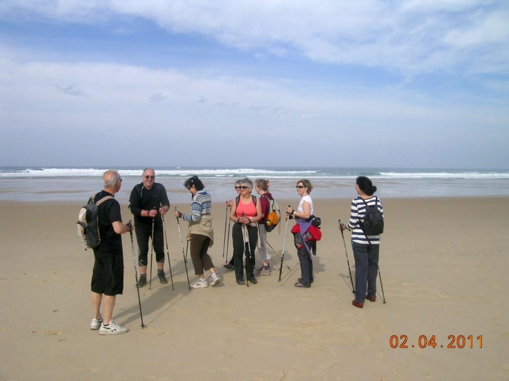 La marée Nordique a envahie la plage...